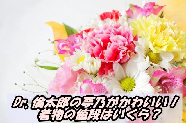 【Dr.倫太郎】夢乃が着ている着物がかわいい!値段はいくら?