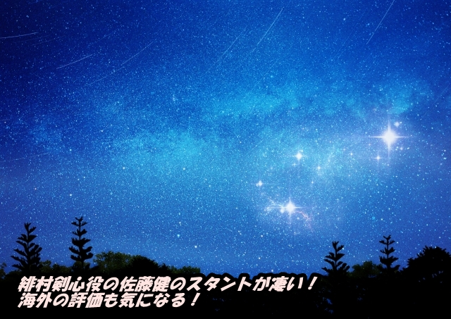 緋村剣心役の佐藤健のスタントが凄い!海外の評価も気になる!